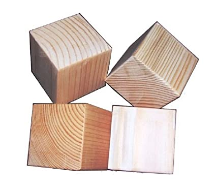 25 Inch Natural Unfinished Wood Blocks Set Of 80 Eighty Wooden Cubes Each Is 2 12 Inches Square