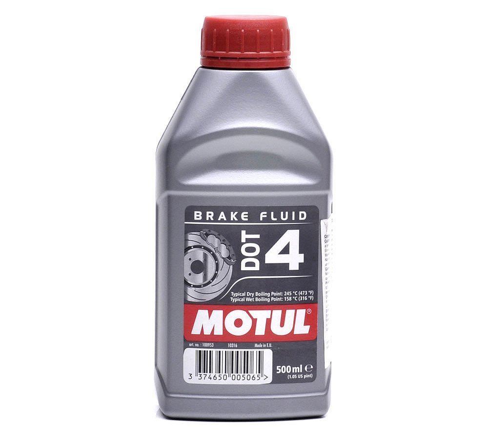 Lí quido de freno MOTUL DOT-4 de 500ml.