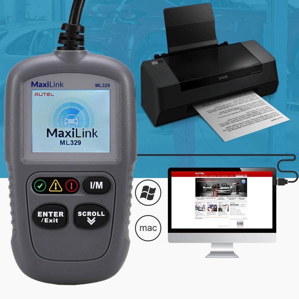 Scanner Diagnose Mit Universal USB Kabel Autel ML329 OBD2 Diagnoseger/ät,Klassischer Und Universeller OBD II Scanner F/ür Den Automotor Fehler-Code