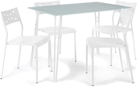 Alinea Yod Lot 1 Table Et 4 Chaises Blanc 110 0x74 0x75 0