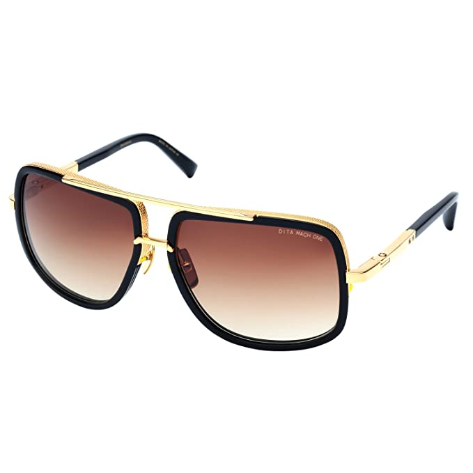 e4d0bf61f79e Dita Mach One 1 Sunglasses DRX 2030B Shiny 18K Gold Black   Brown to Clear  59 mm  Amazon.ca  Clothing   Accessories