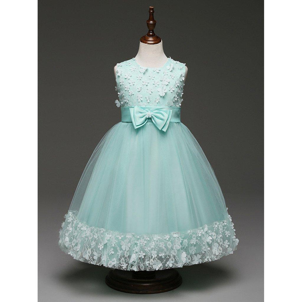 Highdas Grün Mädchen Kinder Abendkleid Kleid Brautjungfer Prinzessin ...
