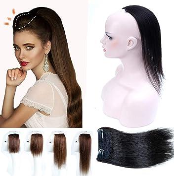 Amazon Com Hair Crown Upholder Piece Human Hair Clip In