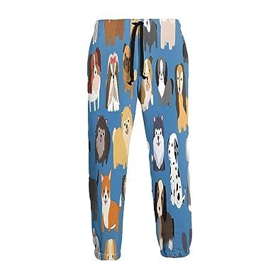 not applicable Tipos de Perros en Azul Pantalones de chándal de ...