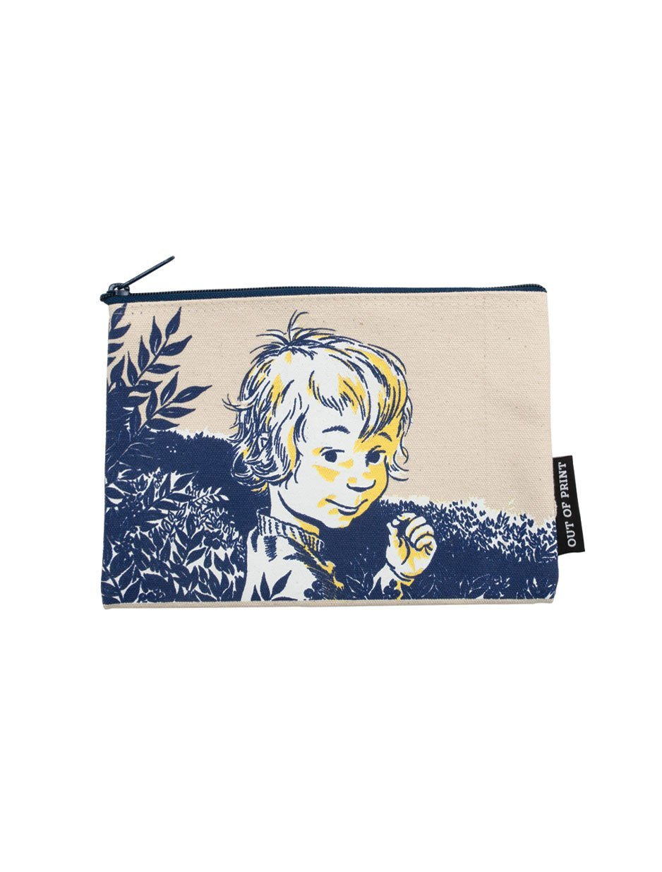 Everyday pouch with Blueberries for Sal cover art printed canvas