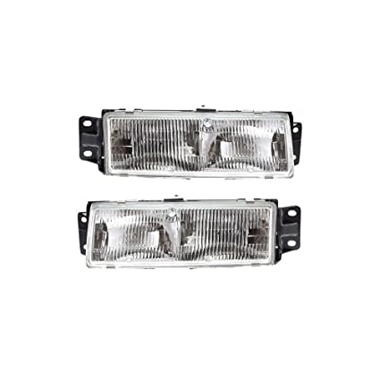 Amazon Headlight Set Of 2 For 91 92 Oldsmobile Cutlass Ciera Coupe Right And Left Side Assembly Halogen Automotive