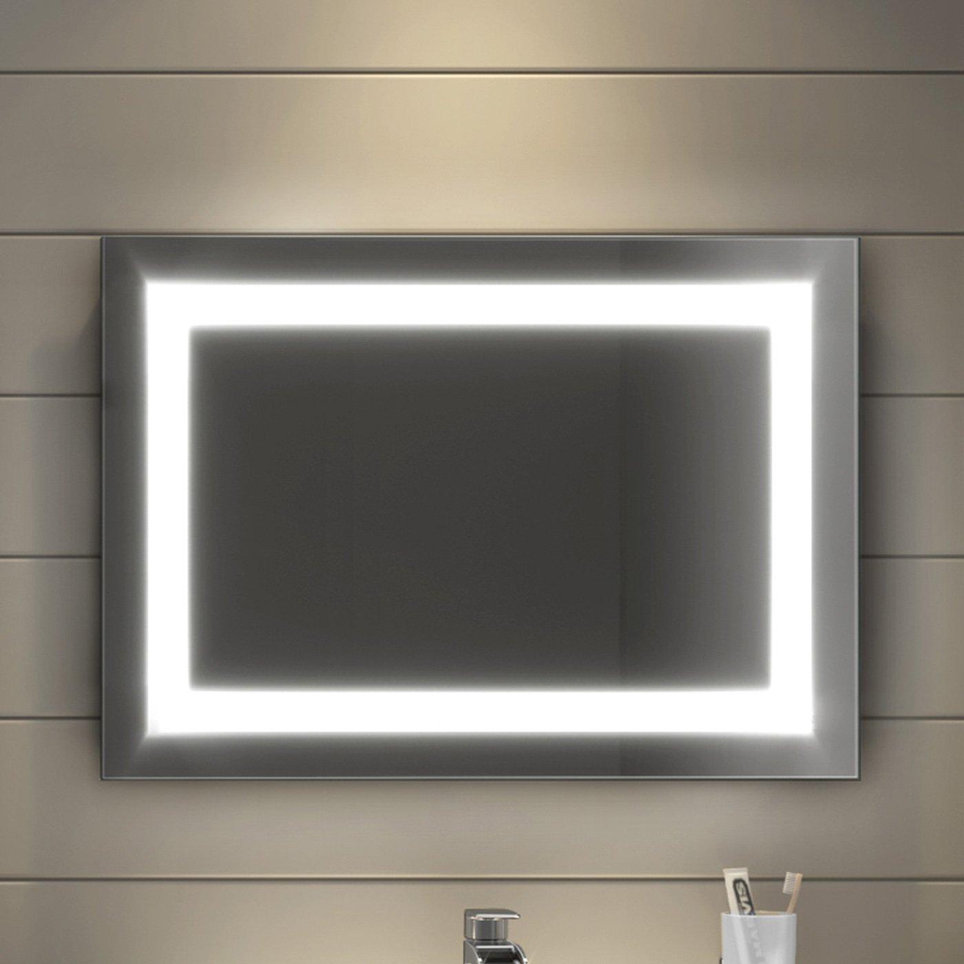 Design Moderno 500 x 700 mm soak Specchio per Bagno con Retroilluminazione a LED e Antiappannamento