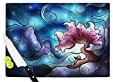 KESS InHouse Mandie Manzano ''Sea Dance'' Blue Orange Cutting Board, 11.5'' x 15.75'', Multicolor
