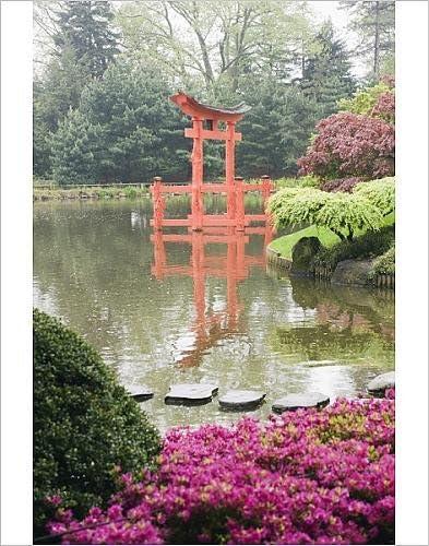 Diseño de puerta Torii en diseño de jardín japonés, Brooklyn Botanical garden, Brooklyn, Nueva York: Amazon.es: Hogar