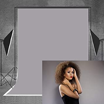 Amazon Com Allenjoy 5x7ft Solid Grey Photography Fabric Backdrop Portrait Headshots Product Family Background Photo Booth Video Studio Photoshoot Photocall Photographer Props Camera Photo