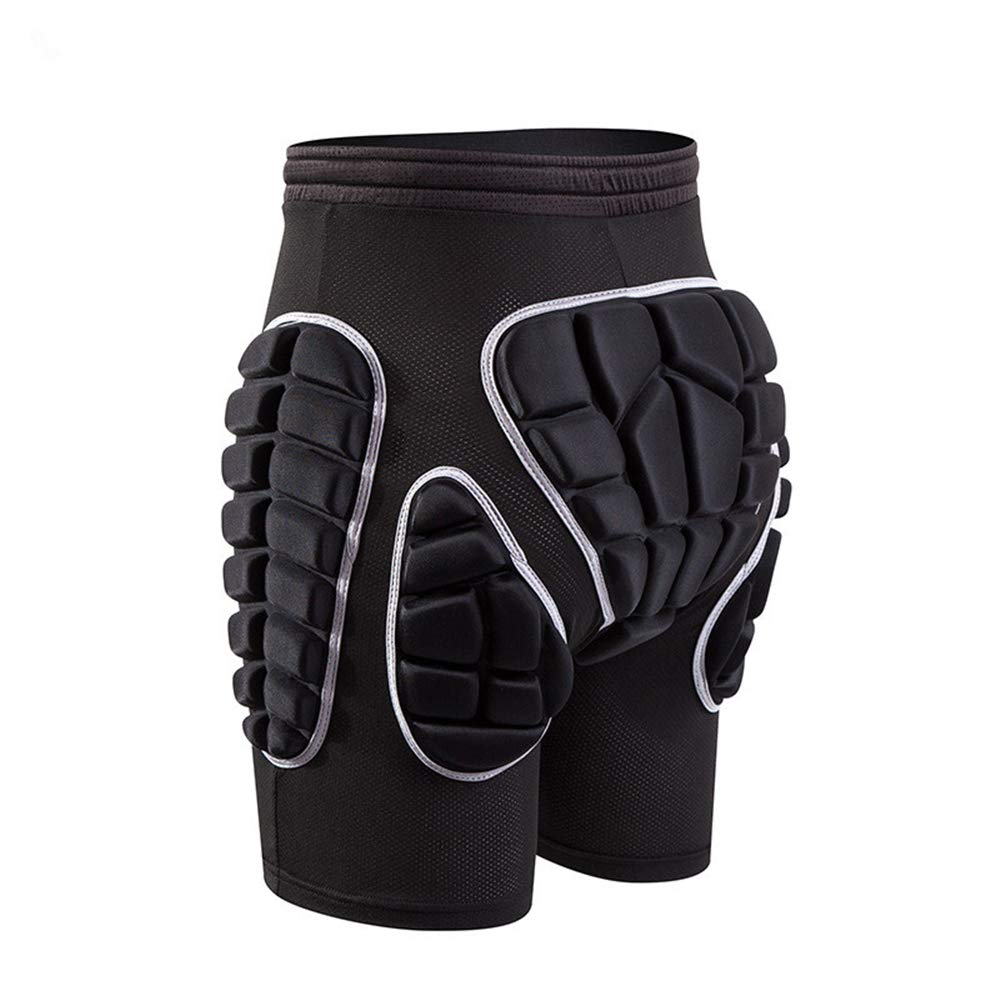 GFEU Men Hip Protection Shorts, 3D Padded Breathable Protective Gear Pants Pad for Ski Skate Snowboard Skating Skiing Volleyball Motorcross Cycling
