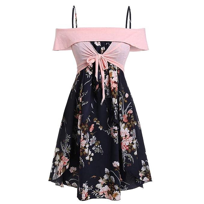 AIni Falda De Playa Vestido Floral Vestido Estampado Correa ...