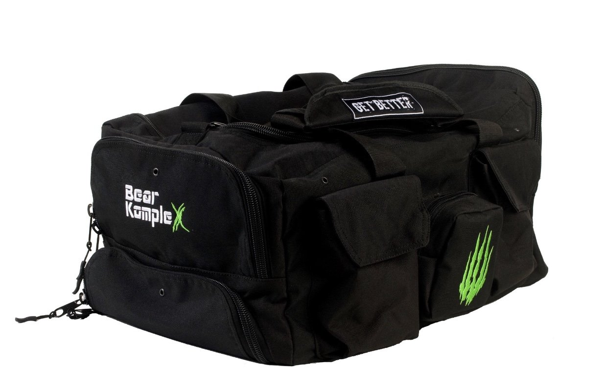 Bear KompleX Gym Bag Tactical Rucksack for, Hunting, Fitness & Crossfit. 1000D Nylon Duffel - Black