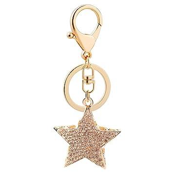 Da.Wa 1X Llavero de Estrella Aro metálico para Llaves del ...