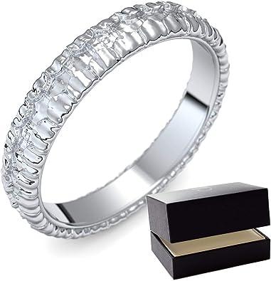Anillo de bodas de plata/confíes anillo 925 + con Estuche + Porto anillo/confíes anillo plata libre de bodas/confíes sin plata (plata 925) Piedras - Love Mujer Amoonic ER110 SS925 joyería care: Amazon.es:
