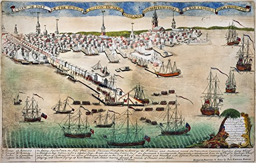 British Landing 1768 Nthe Landing Of British Troops At Boston Massachusetts On 1 October 1768 To Enforce The Writs Of Assistance Color Engraving 1770 By Paul Revere Poster Print by (24 x 36)