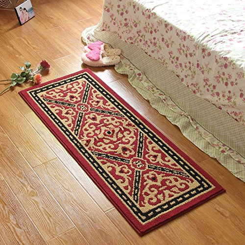 WYMBS Lint-free pads ring door mat adhering the entrance hall rubbing against the foot bath kitchen suction anti-slip long carpet entrance into the foot pads kitchen 80x110cm