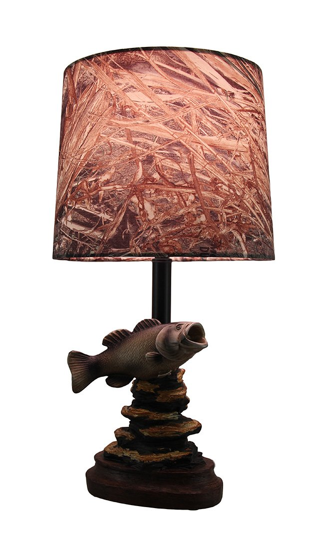 Mossy oak fish accent lamp dark woodtone camo shade table lamps mossy oak fish accent lamp dark woodtone camo shade table lamps amazon aloadofball Image collections