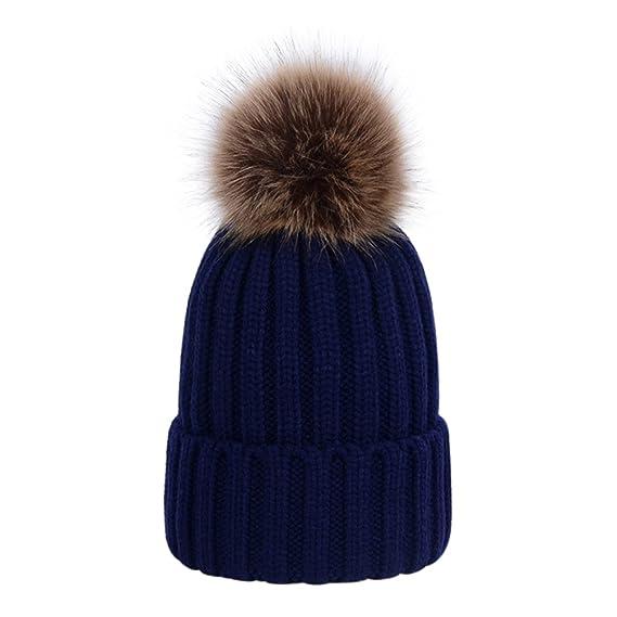 LAUSONS Sombreros de punto de invierno para mujer - Gorros tejidos ...