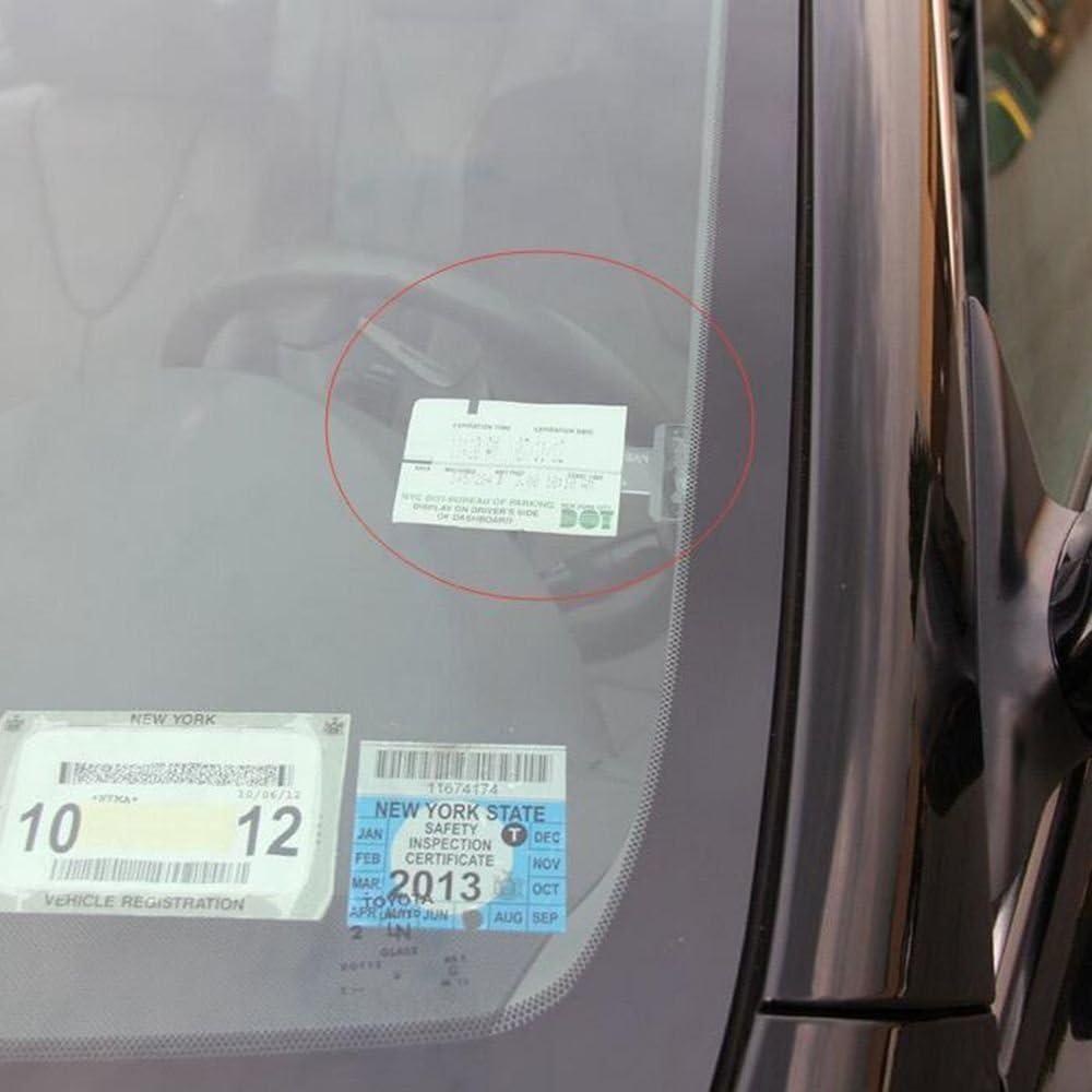 12 Pcs Parking Ticket Holder Clip Plastic Parking Ticket Holder Transparent Car Parking Ticket Holder Clip for Car Vehicle Caravan