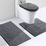 VDOMUS Soft Toilet Rug 3 Pieces Set, Non Slip