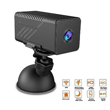 Mini cámara Oculta HD 1080P Compatible con visualización móvil remota y WiFi Cámara espía inalámbrica con