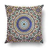 AileenREE Throw Pillow Cover Home Islamic Mosaic Kasbah Telouet Morocco Moroccan Square Size 16 x 16 inches Decorative Pillow Case Home Decor Square Pillowcases