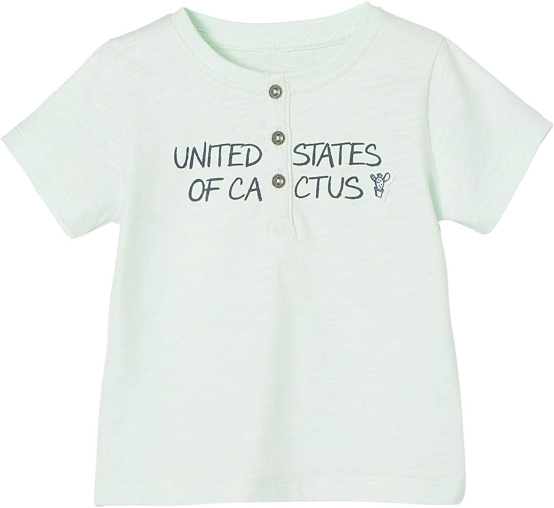 VERTBAUDET Camiseta para beb/é ni/ño de Manga Corta con Mensaje