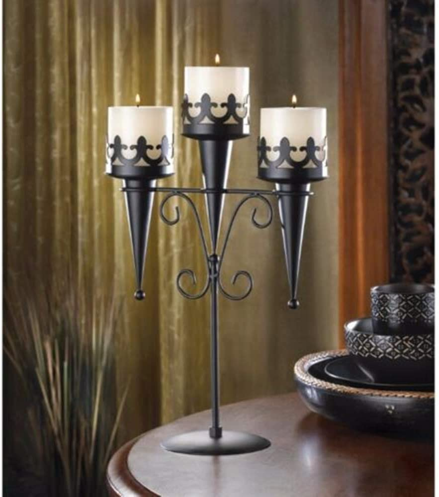 NYW Candle Candelabra Stands Medieval Gothic Style Centerpieces 2 Triple Set