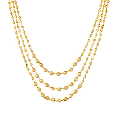 gold plain n necklace andaaz set products jewelers piece