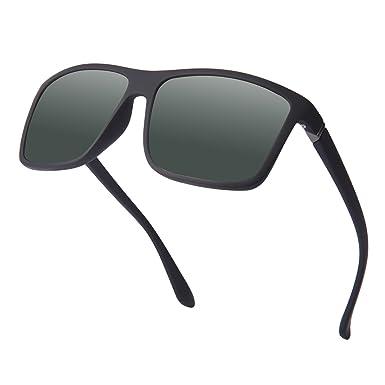 Gafas de Sol Polarizadas Hombre Mujer estilo Wayfarer Vintage Gafas de sol UV400 Proteccion Kennifer (
