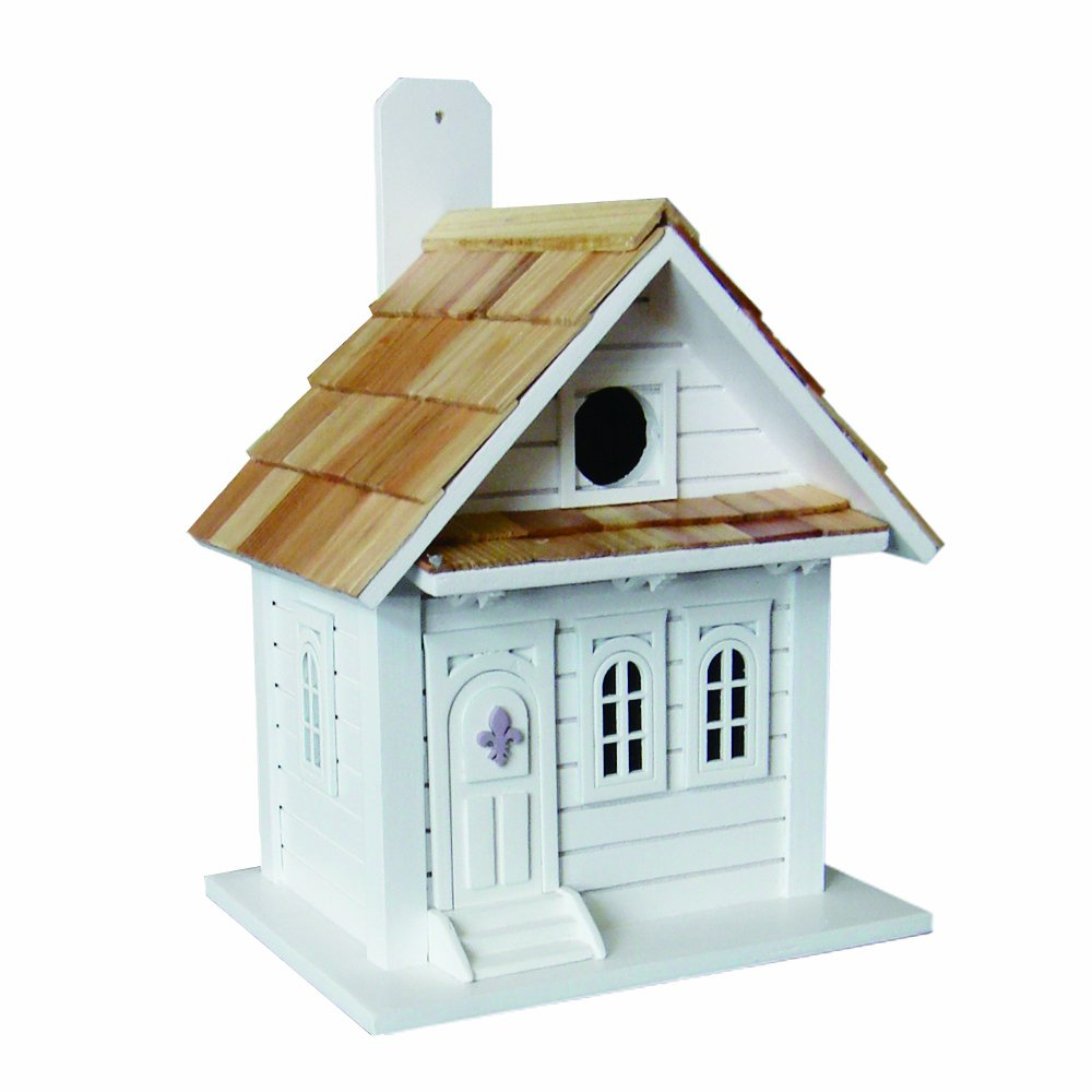 Home Bazaar Shotgun Cottage Birdhouse, White