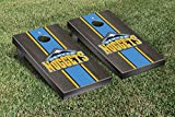Denver Den Nuggets NBA Basketball Cornhole Game Set Onyx Stained Stripe Version