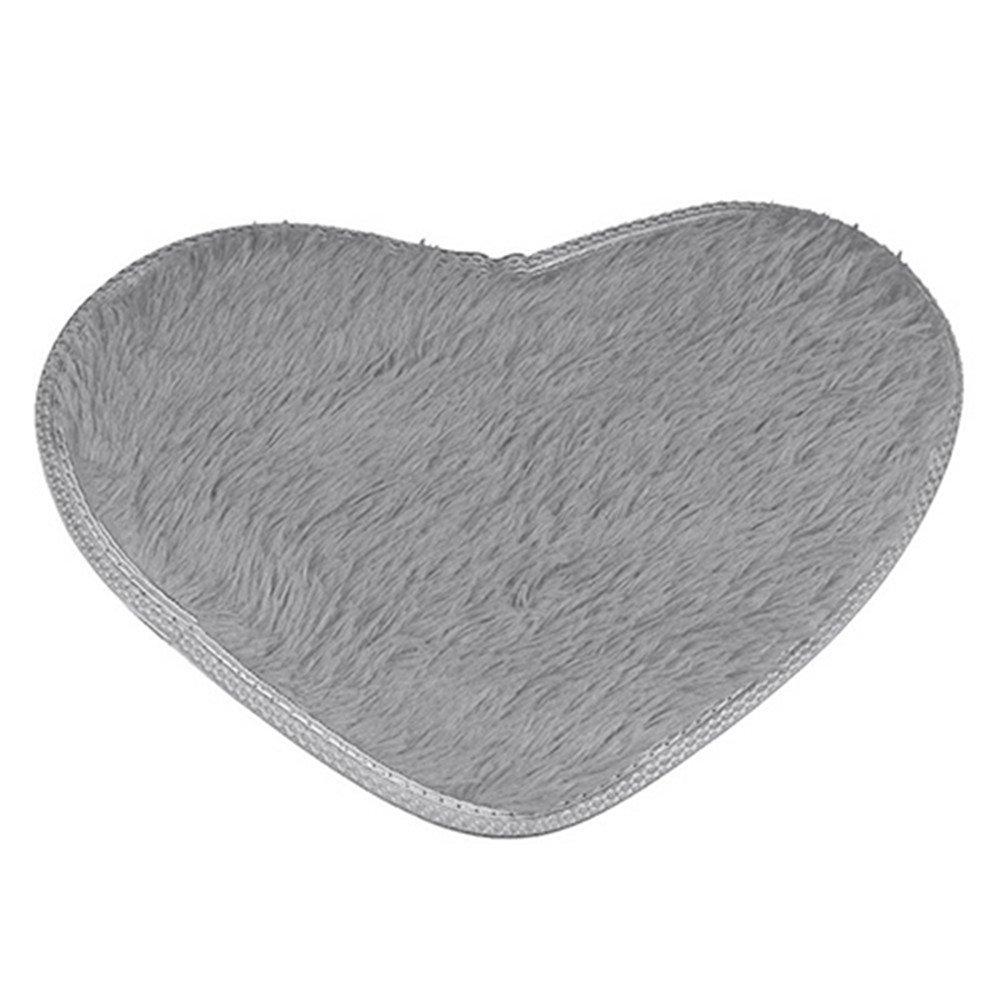 dds5391 Love Heart Shape Non-slip Bath Mat Kitchen Living Room Bathroom Rug