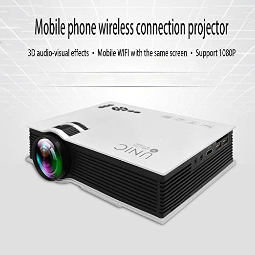 HKYMBM Proyector Portátil, Teléfono Móvil Inalámbrico WiFi Mini ...