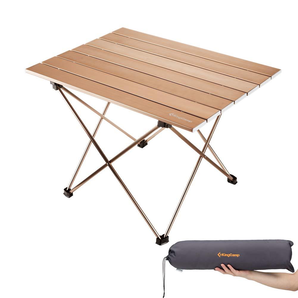 Tavolo Arrotolabile Campeggio E Outdoor.Kingcamp Ultraleggero In Alluminio Pieghevole Arrotolabile Tavolo