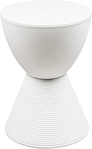 Editors' Choice: LeisureMod Boyd Modern Accent Side Table End Table Indoor and Outdoor Use White