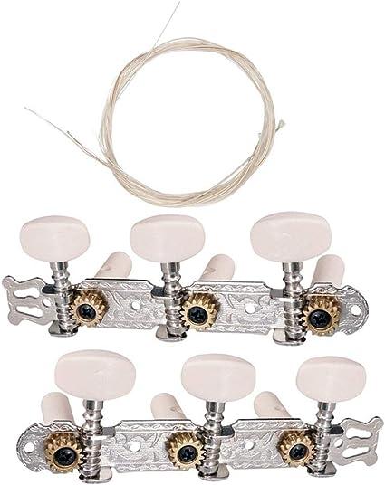 2 llaves de tacón mecánico con cuerdas para guitarra clásica ...