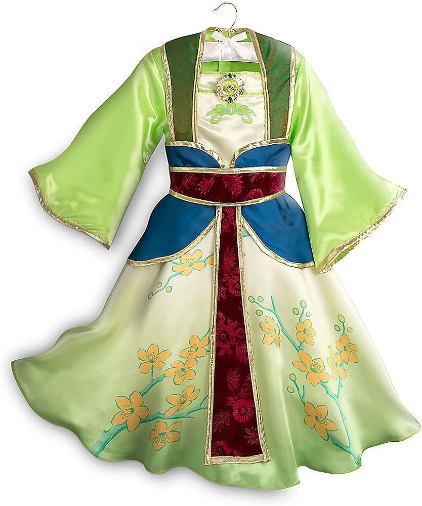 Amazon Com Disney Mulan Costume For Kids Size 5 6 Green Clothing