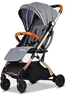 Baby Stroller Plane Lightweight Portable Travelling Pram Children Pushchair (Dark Grey G)