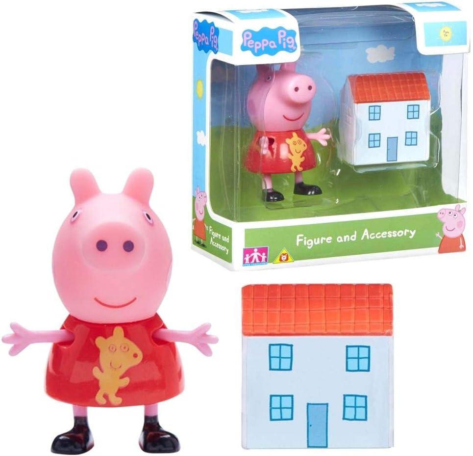 Character World Selección Figuras del Juego | Peppa Pig | Figura con Accesorios, Figura:Peppa Pig con Casa de Juegos: Amazon.es: Juguetes y juegos