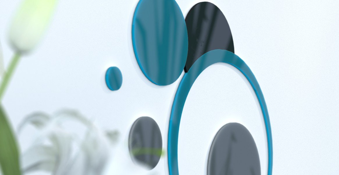 Deko Wand-Wohnzimmer originelle Blaue Ente und grau silber rot   schwarz   grau foncÃeacute; Blau Canard   grau foncà   schwarz