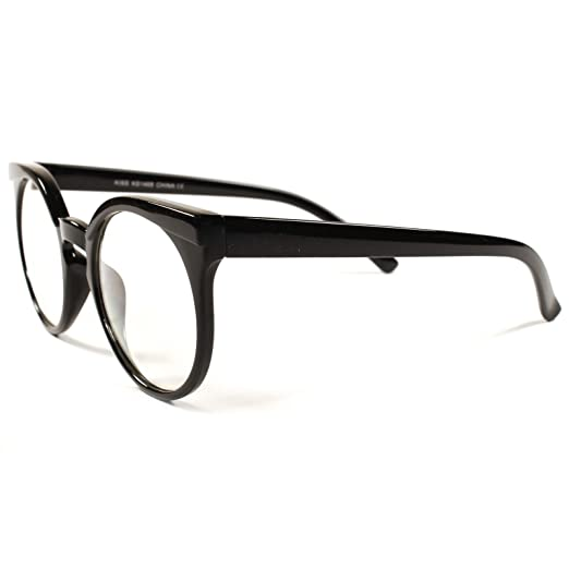 2afe455133619 Image Unavailable. Image not available for. Color  Designer Fashion Vintage  Retro Womens Hot Clear Lens Cat Eye Glasses Frames
