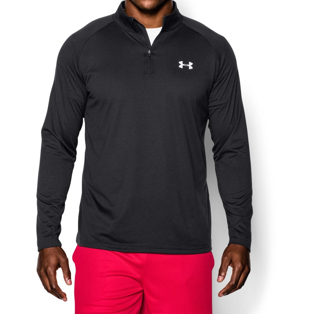 Under Armour Men's Tech ¼ Zip, Black (003)/White, Small by Under Armour
