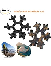 18-in-1 Snowflake Multitool, Stainless Portable Steel Multi-Tool for Outdoor Travel Camping Adventure Daily Tool (2 Pcs)