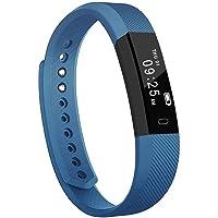 Rastreador de fitness, YOMYM ID115 Pulsera de actividad deportiva con monitor de ritmo cardíaco: Pulsera inteligente resistente al agua Bluetooth - Monitorización del sueño / SMS / Pulsera inteligente Point Touch / para Android y IOS, Azul