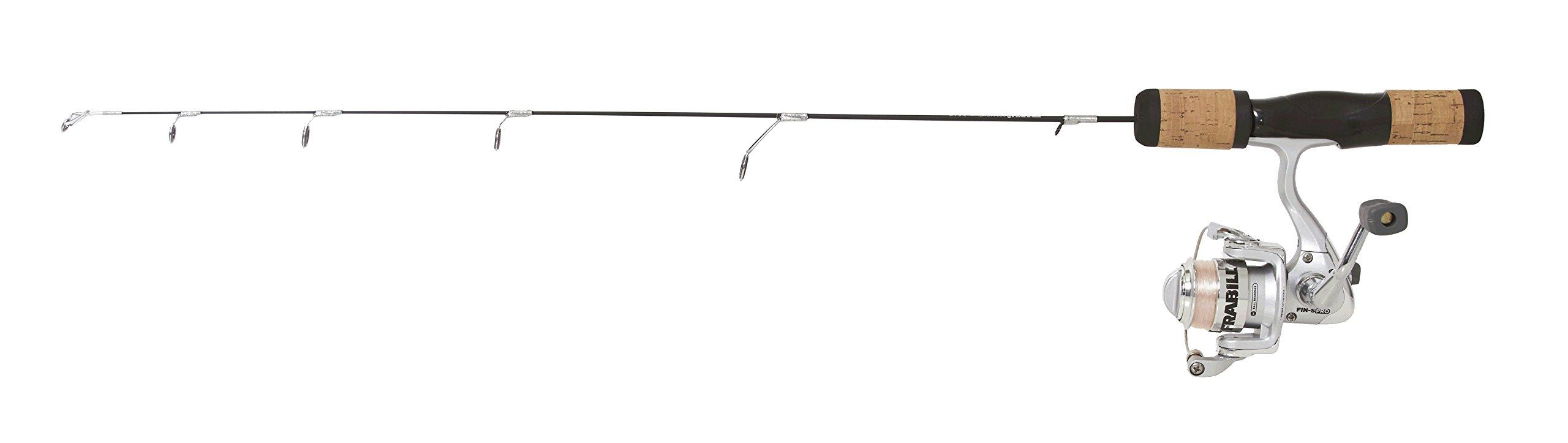 Frabill Fin-S Pro 24-Inch Ultra Light Ice Fishing Combo, Black