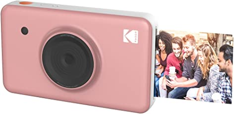 Kodak Mini Shot Wireless Instant Digital Camera & Social Media Portable Photo Printer, LCD Display, Premium Quality Full Color Prints, Compatible w/iOS & Android (Pink)
