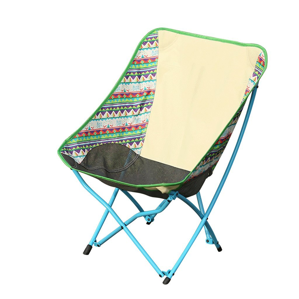 ZYNアウトドア折りたたみ椅子釣り椅子キャンプポケット椅子ポータブル背もたれビーチ椅子Moon Chair B07FGDMB2L  Milk Coffee