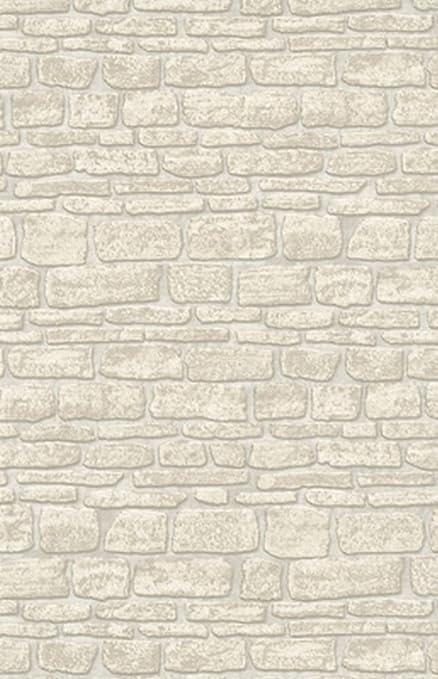 New Luxury Erismann Brix Castle Stone Wall Brick Textured Vinyl